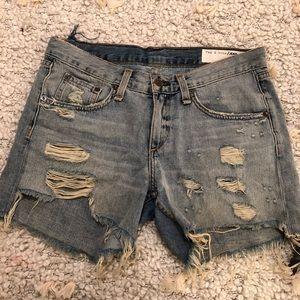 Rag & Bone distressed boyfriend shorts